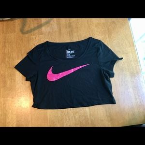 Nike Black and Pink Crop Top NEW